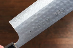 Nao Yamamoto SRS13 Black Damascus Nakiri Japanese Knife 165mm Cherry Blossoms - Japanny - Best Japanese Knife