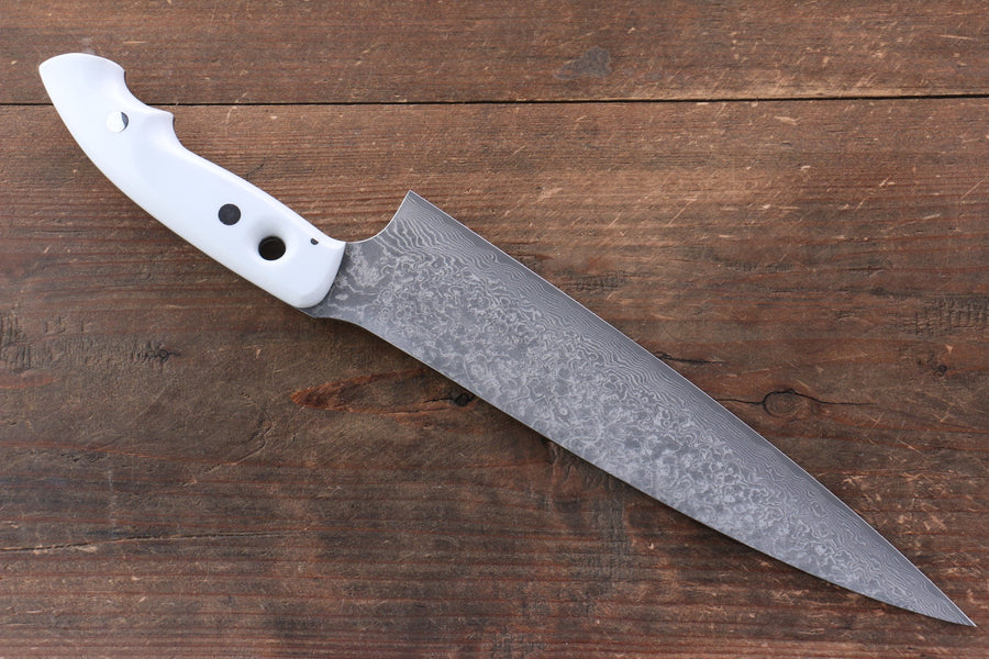 Takeshi Saji VG10 Black Finished Gyuto Japanese Knife 240mm with White Micarta Handle