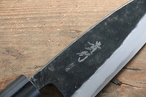 Takayuki Iwai White Steel No.1 Kurouchi Finish Deba Japanese Chef Knife 150mm with Shitan Handle