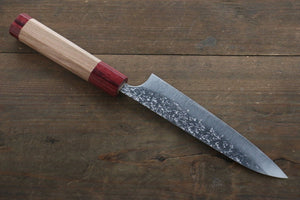 Yu Kurosaki Shizuku R2/SG2 Hammered Petty Japanese Chef Knife 150mm with American Cherry Handle - Japanny - Best Japanese Knife