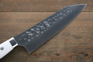 Yu Kurosaki R2/SG2 Hammered Bunka Japanese Chef Knife 180mm with White Stone Handle - Japanny - Best Japanese Knife