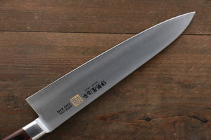 Iseya Molybdenum Steel Gyuto Japanese Chef Knife 210mm with Mahogany Packer wood Handle  (Ferrel : Stainless Steel) - Japanny - Best Japanese Knife
