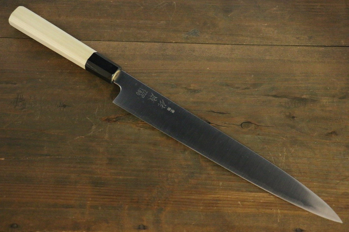Sukenari ZDP189 3 Layer Sujihiki Japanese Knife 240mm Magnolia Handle - Japanny - Best Japanese Knife