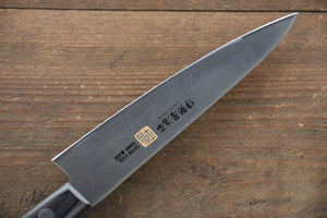 Iseya Molybdenum Steel petty Japanese Chef Knife 120mm with Black Packer wood Handle - Japanny - Best Japanese Knife