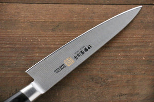 Iseya Molybdenum Steel Japanese Chef Knife 120mm with Black Packer wood Handle (Ferrel : Stainless Steel) - Japanny - Best Japanese Knife