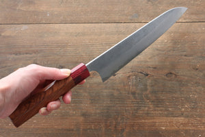 Yoshimi Kato Blue Super Nashiji Gyuto Japanese Knife 210mm with Red Honduras Handle - Japanny - Best Japanese Knife