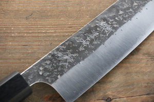 Yu Kurosaki Blue Super Clad Hammered Kurouchi Santoku Japanese Chef Knife 165mm - Japanny - Best Japanese Knife