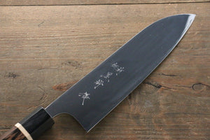 Yu Kurosaki R2/SG2 Mirrored Finish Santoku Japanese Knife 180mm with Wenge Handle - Japanny - Best Japanese Knife