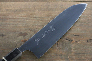 Yu Kurosaki R2/SG2 Mirrored Finish Santoku Japanese Knife 180mm with Ebony Wood Handle - Japanny - Best Japanese Knife
