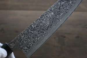 Takeshi Saji R2/SG2 Black Damascus Gyuto Japanese Chef Knife 210mm with Ebony  handle - Japanny - Best Japanese Knife