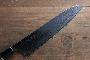 Takeshi Saji R2/SG2 Mirrored Finish Damascus Gyuto Japanese Knife 240mm with Ebony with Ring Handle - Japanny - Best Japanese Knife