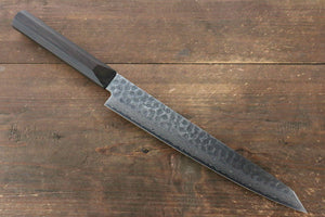 Jikko VG10 17 Layer Sujihiki Japanese Knife 230mm Ebony Wood Handle - Japanny - Best Japanese Knife