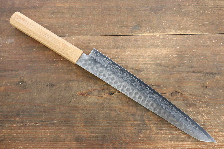 Jikko VG10 17 Layer Sujihiki Japanese Knife 230mm Oak Handle - Japanny - Best Japanese Knife