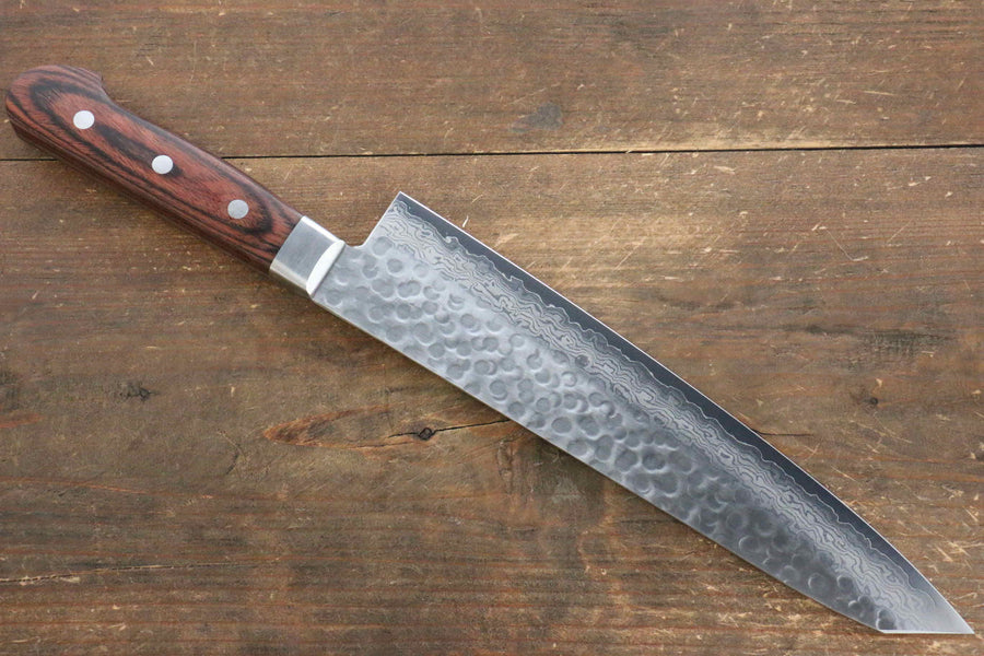 Jikko VG10 17 Layer Kiritsuke Gyuto Japanese Knife 230mm Mahogany Handle - Japanny - Best Japanese Knife