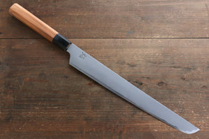 Sakai Takayuki Sakai Takayuki Homura Genbu Blue Steel No.2 Sakimaru Yanagiba Japanese Knife 300mm with Yew Tree Handle with Saya - Japanny - Best Japanese Knife