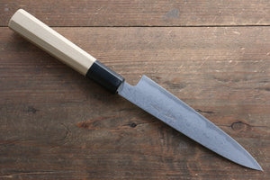 Kikumori Blue Steel No.1 Damascus Petty-Utility Japanese Knife 150mm with Magnolia Handle - Japanny - Best Japanese Knife