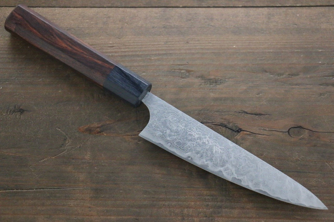 Saji R2/SG2 Petty Japanese Chef Knife 135mm with Shitan handle - Japanny - Best Japanese Knife