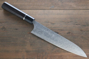 Takeshi Saji R2/SG2 Diamond Finish Damascus Gyuto Japanese Chef Knife 210mm with Ebony  handle - Japanny - Best Japanese Knife