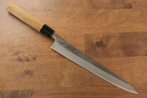 Seisuke Blue Steel No.2 Nashiji Sujihiki Japanese Knife 240mm Chestnut Handle - Japanny - Best Japanese Knife