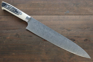 Saji R2/SG2 Diamond Finish Damascus Gyuto Japanese Chef Knife 240mm with Bone Handle - Japanny - Best Japanese Knife