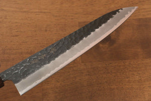 Sakai Takayuki Blue Super Hammered Black Finished Gyuto Japanese Knife 210mm - Japanny - Best Japanese Knife
