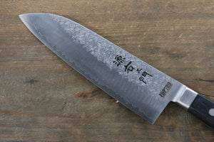 Takayuki Iwai ZDP189 Hammered Santoku Japanese Chef Knife 170mm - Japanny - Best Japanese Knife