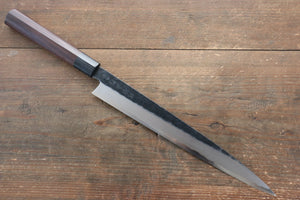 Takayuki Iwai Blue Steel No.2 Kurouchi Yanagiba Japanese Knife 270mm with Shitan Handle - Japanny - Best Japanese Knife