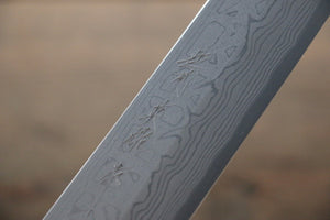 Hideo Kitaoka White Steel No.2 Damascus Kiritsuke Yanagiba Japanese Chef Knife 270mm - Japanny - Best Japanese Knife