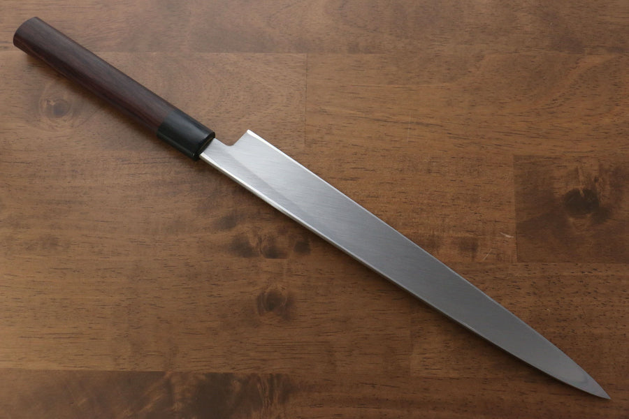 Jikko White Steel No.2 Yanagiba Japanese Knife 270mm Shitan Handle - Japanny - Best Japanese Knife