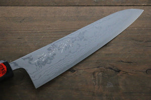 Shigeki Tanaka Blue Steel No.2  17 Layer Damascus Gyuto Japanese Chef Knife 180mm with Walnut Handle
