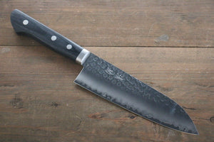 Seisuke VG1 Hammered Santoku Japanese Kitchen Chef Knife 165mm - Japanny - Best Japanese Knife