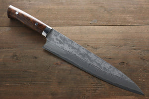 Takeshi Saji VG10 Black Damascus Gyuto Japanese Chef Knife 240mm with Iron Wood handle - Japanny - Best Japanese Knife
