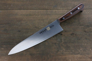 Iseya Molybdenum Steel Gyuto Japanese Chef Knife 210mm with Mahogany Handle - Japanny - Best Japanese Knife