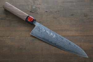 Shigeki Tanaka Blue Steel No.2  17 Layer Damascus Gyuto Japanese Chef Knife 210mm with Walnut Handle - Japanny - Best Japanese Knife