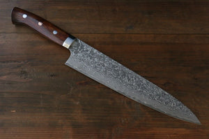 Takeshi Saji R2/SG2 Black Damascus Japanese Gyuto Chef Knife with Ironwood Handle 240mm - Japanny - Best Japanese Knife