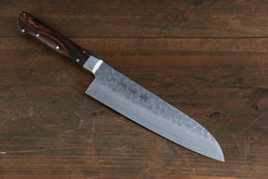 Sakai Takayuki 17 Layer Damascus VG10 Santoku All Purpose Japanese Chef Knife with Desert Iron Wood handle