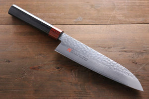 Iseya VG10 33 Layer Damascus Hammered Santoku Japanese Chef Knife, 180mm