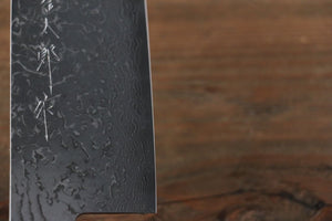 Yoshimi Kato VG10 nickel Damascus Santoku Japanese Chef Knife 180mm - Japanny - Best Japanese Knife