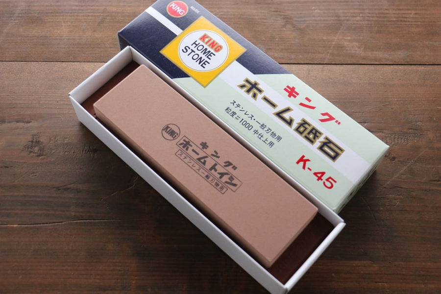 King Sharpening Stone #1000 Grids with Plastic Base K-45 - Japanny - Best Japanese Knife