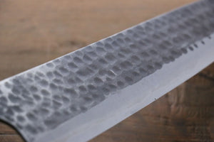 Katsushige Anryu 3 Layer Cladding Blue Super Core Hammerd Japanese Chef's Gyuto Knife 240mm - Japanny - Best Japanese Knife