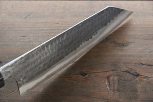 Katsushige Anryu 3 Layer Cladding Blue Super Core Hammered Japanese Chef's Bunka Knife 165mm - Japanny - Best Japanese Knife