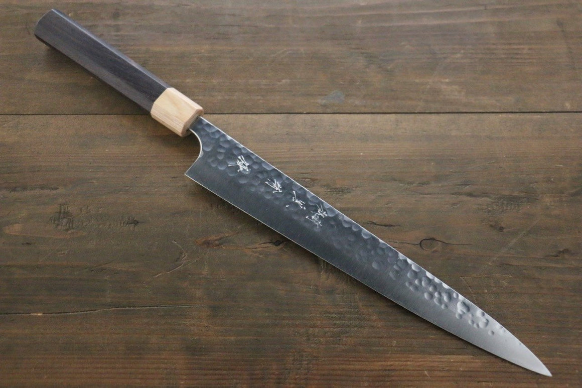 Yu Kurosaki R2/SG2 steel Hammered Japanese Chef's Sujihiki Knife 240mm - Japanny - Best Japanese Knife