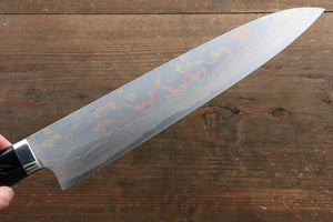 Takeshi Saji Blue Steel No.2 Colored Damascus Gyuto Japanese Knife 270mm with Maki-e Art Fuji