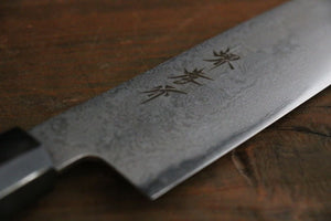 Sakai Takayuki Silver-3 Damascus Steel Santoku All-Purpose Japanese Chef Knife 180mm - Japanny - Best Japanese Knife
