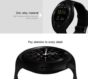 Smart Watch  para Telefone Android Redondo Suporte Nano SIM &TF Card com Whatsapp e Facebook