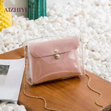 ´´Crossbody´´ Bolsa De Ombro Mini transparente.