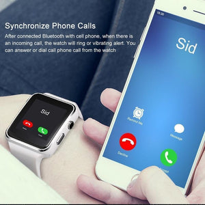 Smart Watch X6  Bluetooth com Camera Touch Screen - Compatível com iPhone Xiaomi Android Phone