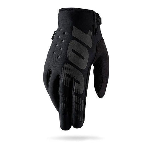 100% Brisker Winter/Cold Weather Glove - Black/Grey (Youth)