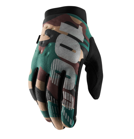 100% Brisker Winter/Cold Weather Gloves  - Camo / Black