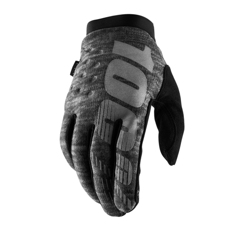 100% Brisker Winter/Cold Weather Gloves - Heather Grey